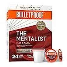 bulletproof Bulletproof The Mentalist Roast Coffee Pods, Premium Dark Roast, Organic, Single-Serve K-Cups, Keurig, Keurig 2.0 (24 Count)