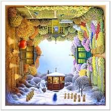Pintoo Jigsaw Puzzle 1600 Pcs: Jacek Yerka Four Seasons
