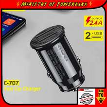 Awei C-707 Car Accessories Dual Usb Ports Car Charger 5V/2.4A 12W Mini Car Chargers