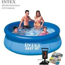 INTEX Easy Set Pool(8Ftx30In-244X76Cm)*Inflatable Swimming Pool*Pump To Choose