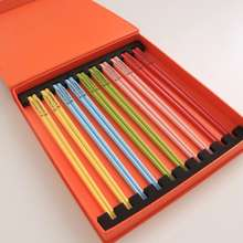 Le Creuset ✨New Store Opens, Special Price Strikes! France Original Authentic Colorful Ceramic Chopsticks Ten Pairs Of Boxes Are As Beautiful As Rainbow!Kitchenware Dinnerware.