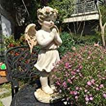 Angel Garden Ornaments Beautiful Angel Figurine Waterproof Resin Garden Statue For Yard Lawn Decoration Landscape Crafts Gift -25 * 18 * 49Cm A*Product No.:Ww-428 (Color : A)