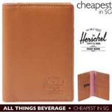 Herschel Supply Co. Herschel Supply Raynor Bi fold Bifold Tan Leather Wallet or Passport Holder (Cheapest in SG)