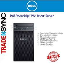 Dell PowerEdge T40 Tower Server   BTX Intel Xeon E-2224G 3.5GHz   32GB 2666MT/s DDR4   1TB 7.2K RPM SATA 6Gbps Entry 3.5in Cabled Hard Drive   3 YR ON-SITE WARRANTY