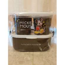 Disney Mickey Mouse Lunch Box Container Cutlery Set