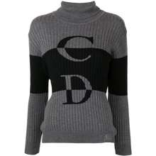 Dior Pre Owned Cd Knitted Jumper Grey