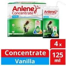 Anlene Concentrated UHT Milk - Vanilla - 4* 125 ml