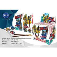 YLF [Shop Malaysia] [Fsc] Transformers Chocolate Coated Biscuit Stick 32Gmx12'S