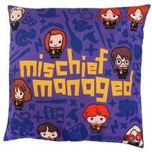 Harry Potter Charms Mischief Managed Printed Cushion Cover. 27 x 19.5 x 1.5 cm.