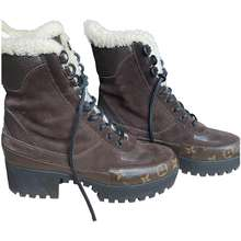 Louis Vuitton Laureate ankle pony-style calfskin snow boots