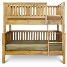 Wihardja Scandinavian Solid Teak Wood Fredrick Double Decker Bunk Bed Bedroom Space Saving