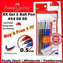 Faber-Castell 【Buy5Free1】 Rx Gel 5 Pen 0.5Mm【Value Pack】#Blue2 #Black3 #Red1 #540888 #Rx #Gel #5 # #Pen