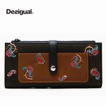 Desigual Wholesale Original New Spain Women'S Wallet Fashion Embroidered Wallet Women'S Fashionable And Exquisite Embroidery Long Wallet