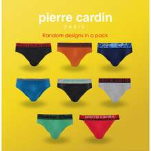 Pierre Cardin [Shop Malaysia] Clearance (5 Pcs In A Pack) Men'S Mini Briefs Underwear - P3Mix-5M Assorted Designs & Assorted Fabrication
