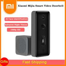 Xiaomi Mijia Smart Video Doorbell 2 Ai Face Identification Infrared Night Vision Two-Way Intercom Motion Detection 1080P Surveillance Camera Work With Mijia App