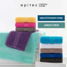 Epitex 100% Pure Cotton Bath Towel Bright Colour Towel   Gym Towel   Bathroom Towel   Yoga Towel   Soft
