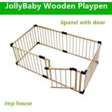 jollybaby Wooden Playpen 6 Panel With Door