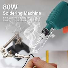 Smart Sensor 80W Portable Rechargeable Cordless Soldering Iron Handheld Automatically Send Tin Machine Wire Welding Repairing Tool Kit