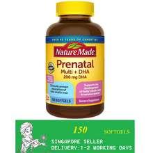 Nature Made Prenatal Multi + Dha, 150 Softgels/Exp 05/2023