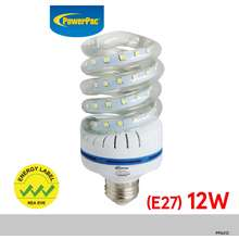 PowerPac X 2 Pcs Led Bulb 12W E27 Vertex Daylight (Pp6012)
