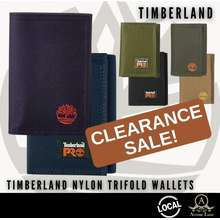 Timberland *Sg* Mens Nylon Trifold Wallet Overstock Clearance Without Gift Box *100% Authentic*
