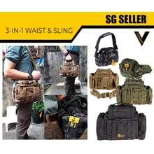 Vozuko [Sg Seller] 3 In 1 Prepper Bag With Shoulder Strap And Comfy Shoulder Pads Waist Bag, Belt Bag, Sling Bag [003]