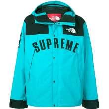 Supreme Logo Rain Jacket Blue