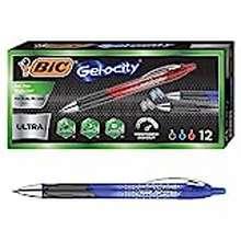 BIC Bic Gel-Ocity Ultra Retractable Gel Pen, Assorted, 12-Count