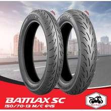 Bridgestone [Shop Malaysia] Battlax Sc Tyre 150/70-13 M/C 64S Sc-R Tl