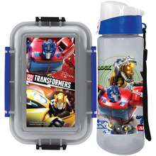 Transformers [Shop Malaysia] Autobot Optimus Prime Bumblebee Lunch Box With Water Bottle Set (Bpa-Free)