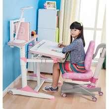 takeAseat Pink E1100 Kids Ergonomic Study Table (Includes White Rack)