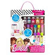 Barbie Barbie Make Your Own Layered Lip Balm Kit By Horizon Group Usa, Diy 5 Custom Lip Balms By Mixing Flavors Like Vanilla, Strawberry, Watermelon & Tropical Punch, Multicolored