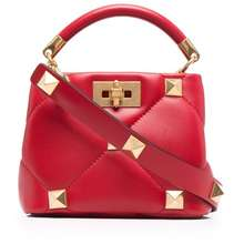 Valentino Roman Stud Tote Bag Red