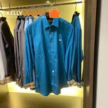 Burberry [Pre-Order] KLS 1321 Long Sleeves Polo Blue 3 weeks