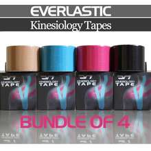 Everlastic Official Store Evr Tape Bundle Of 4 Sports Kinesiology Tape (Uncut)