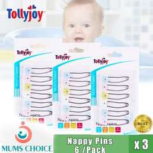 Tollyjoy Nappy Pins With Safety Snap-Lock (6Pcs) X 3