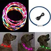 led High Quality Led Dog Collar Light Up 70 Cm Usb Charging Adjustable For Dogs And Cats