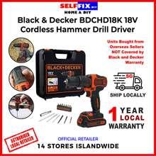 Black & Decker Black And Decker Bdchd18K 18V Cordless Hammer Drill Driver