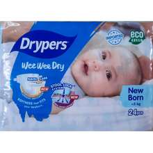 PETPET Drypers Newborn Nb24 Diapers Wee Wee Dry Up To 5 Kg Eco Green New Design [Sg Stock]