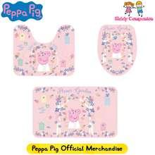 Peppa Pig Licensed – Authentic Kids Bathroom Mat 3 piece set | Children Home & Living | Kids Mat