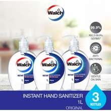Walch Instant Hand Sanitiser 1L X 3 Bottles (HandSanitiser 1L x 3)