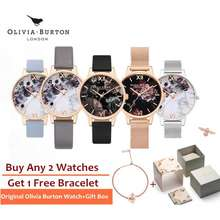 Olivia Burton Watch Original Ob Woman Celestial Demi Dial Watch Wristwatch Ready Stock Ob16Gd22 Ob16Mf08 Ob16Mf09 Ob16Mf10 Ob16Wg44