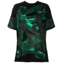 Off-White Off White Woman Graphic Print T Shirt in Black/Green, Brand Size Large