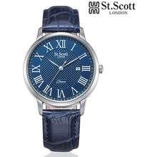 Scotts St Scott London Men Watch Non-Scratch Hard Mineral Glass ST7106LSLL