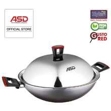 ASD Gusto Red 40Cm Non-Stick Jumbo Wok Hp8540-Rd