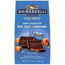 Ghirardelli Dark Chocolate Sea Salt Caramel Squares Medium Bags 150G