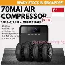 Xiaomi 🇸🇬 70Mai Car Air Compressor Midrive Tp03 Dc 12V Portable Electric Car Air Pump Mini Tire Inflator Tyre Pump