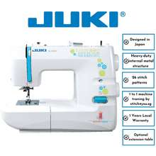 JUKI Hzl-355Zw-C Heavy Duty Sewing Machine With 26 Stitch Patterns Include Buttonholes In 1 Step