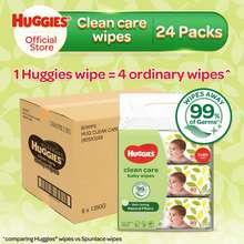 HUGGIES [1 Carton] Baby Wipes Clean Care (24X80)