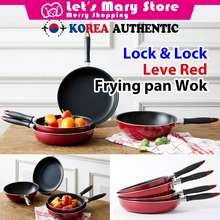 Lock & Lock ★ Lock & Lock Leve Red Frying Pan Wok ★ Korea Authentic / Let'S Mary Store Letsmary Store